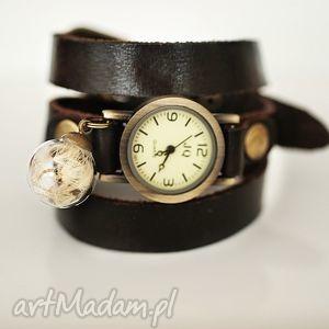 handmade zegarki ♥ dmuchawiec ii ♥ skórzany zegarek