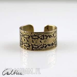wzór - mosiężny pierścionek 140123-02, pierścień, pierścionek, obrączka