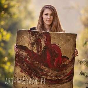 """""""krwawa merry"""" - obraz na płótnie ręcznie malowany do salonu art"""