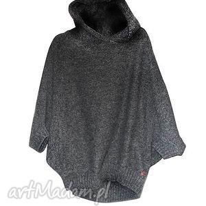 świąteczny prezent, sweter cahlo jumper gray, sweter, poncho, cahlo, kaptur