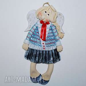 Prezent Iga marzy o wakacjach - anioł z masy solnej, anioły, dekoracja, prezent