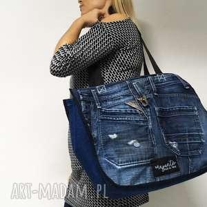 duża torba upcykling jeans 13 replay, upcykling, jeans, torba, wielka