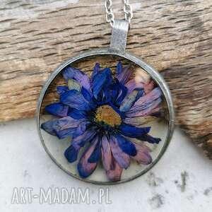 naszyjniki naszyjnik z kwiatów w oprawie z112, kwiatami, suszone