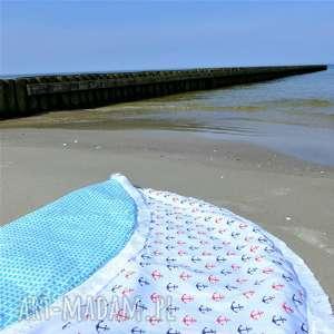 Dwustronna mata koc dywanik Fik 150 cm KOTWICE, wakacje, dywanik, dzieci, pokój