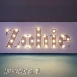 Prezent NAPIS LED Twoje Imię personalizowany obraz dekoracja lampa prezent na