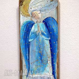 Deseczka z sentencją Nr 29, anioł, aniołek, miłość, wiatr, deseczka,