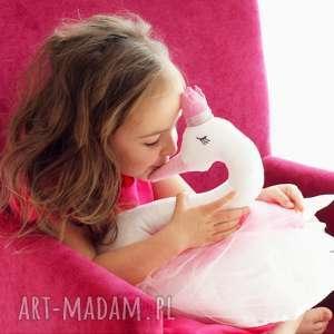 ŁABĘDŹ PRZYTULANKA DEKORACJA, łabędź, tiul, maskotka, zabawka, przytulanka, swan
