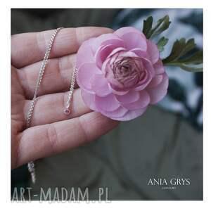 hand-made wisiorki pink diamond