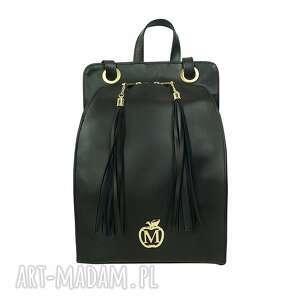ręcznie robione torebki manzana plecak/torebka wygodny styl czarny gładka