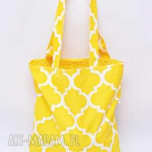 torba na zakupy ekologiczna shopperka maroko żółte szopperka zakupowa bawełniana