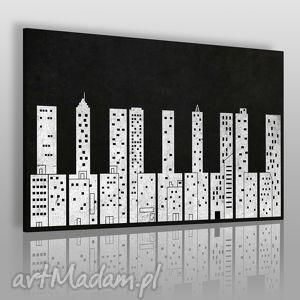 obrazy obraz na płótnie - klawisze budynki miasto 120x80 cm 37401