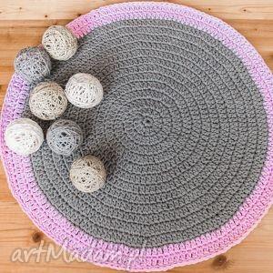 handmade pokoik dziecka dywanik 90 cm ze sznurka bawełnianego