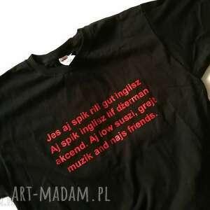 koszulka męska bawełniana z nadrukiem, firma fruit of the loom, rozmiar l