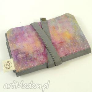 handmade etui piórnik cosmic dust pink&grey (duży)