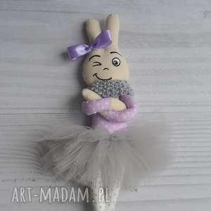 kolorowamanufaktura misia królisia baletnica, miś, króliczek, tutu dla