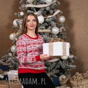 bluzy świąteczna bluza damska christmas boże narodzenie renifery wzór norweski