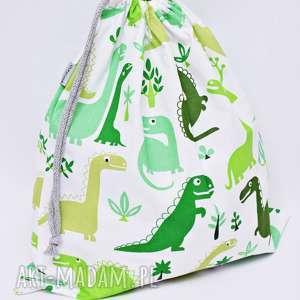 worek na kapcie, buty, strój dinozaur zielony, worek, szkoła