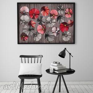 Maki 50x70cm, maki, kwiaty