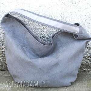 ręczne wykonanie torebki hobo true colors - popiel