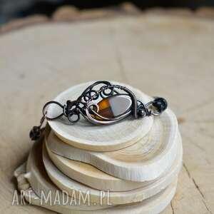 miodowo - bransoletka z miedzi, dla niej, retro