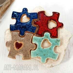 ceramiczny magnes puzzle - dopasuj swój, prezent dla pary