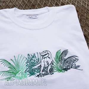 ręcznie zrobione koszulki t-shirt dino