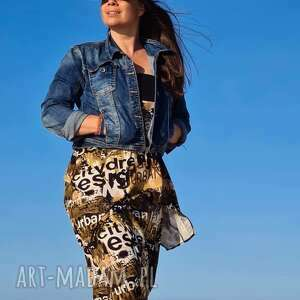 oryginalny prezent, ququ design safati komplet, lejące, wiskoza spodnie