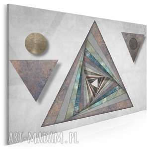 obraz na płótnie - trójkąt tekstury wzór 120x80 cm 80601, trójkąt