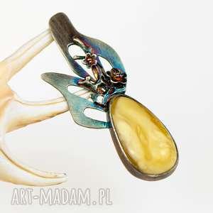 a577 okwiecony naszyjnik srebrny z opalem - naszyjnik-srebrny, naszyjnik-z-opalem