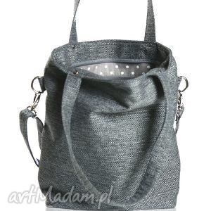 Szara prostokątna torebka do pracy A4 , torba, torebka, z-personalizacją,