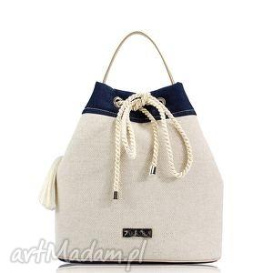 farbotka torebka taszka simple 130, len, jeans, taszka, worek