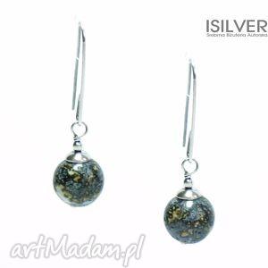 Prezent jaspis w srebrze kolczyki, jaspis, srebro, autorska, biżuteria