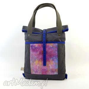torba na ramię i plecak 2w1, gray, torboplecak, dziewczyna, prezent, święta