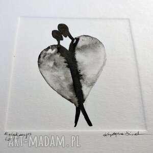Grafika 20x20 cm wykonana ręcznie, obrazek na prezent, grafiki