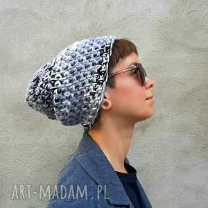 ręcznie wykonane czapki czapka hand made no 057 - beanie