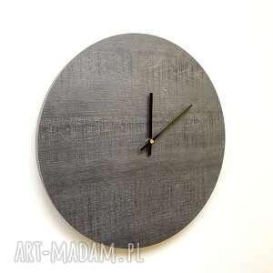 ciekawy zegar ścienny postarzane drewno, designerski zegar, ładny