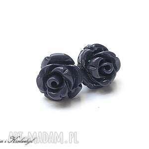 hand-made kolczyki róże - montana