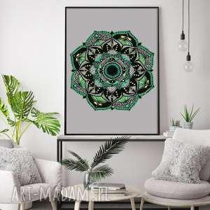 mandala 50x70cm, mandala, mandale, grafika, plakat, sztuka
