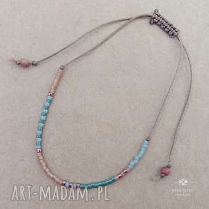 bransoletki bransoletka z drobnych koralików, szkło, koraliki, sznurek, lato