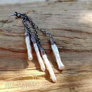 onyksela perłowe patyczki, perły, biwa, oryginalny prezent
