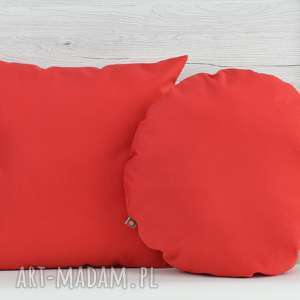 komplet poduszek dekoracyjnych 40x40cm czerwone - 2 sztuki - poduszka, poszewka, dekoracja