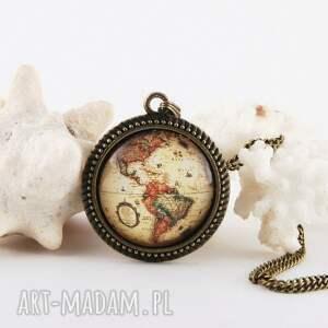 wisiorki wisiorek stary globus, biżuteria z globusem