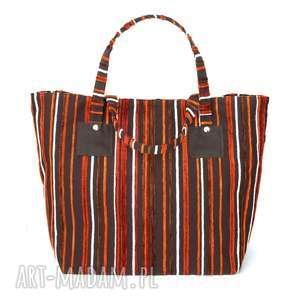 37 -0006 wielobarwna torebka shopper bag 3w1 ekologiczna torba