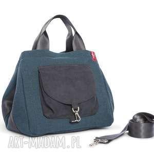 na ramię torba big duo xl - morska, wielofunkcyjna, stylowa, wygodna, kobieca