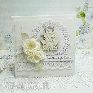 Pamiątka Chrztu Św. dla dziewczynki, chrzest, scrapbooking, pamiątka-chrzest, kartka