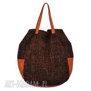 90032c3da984e ... na ramię 06-0001 czarno-pomarańczowa torba worek xxl zakupy swallow maxi