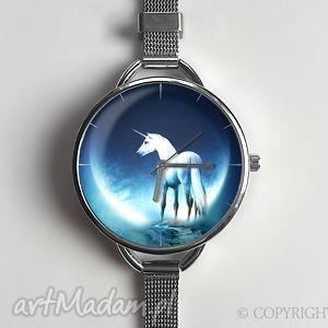 zegarki jednorożec - zegarek z dużą tarczką 0657ws, jednorożec, zegarek, prezent