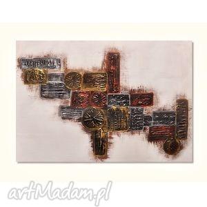geometria, abstrakcja, obraz ręcznie malowany, obraz, ręcznie, nowoczesny