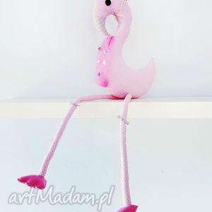 różowy flaming Juliusz - ,flaming,różowa,pastelowa,maskotka,zabawka,juliusz,