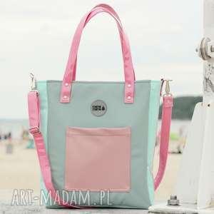 torba damska na ramię cuboid pistacjowa, elegancka-torba, torba-do-pracy